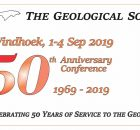 Geological Society of Namibia 50th Anniversary 2019 - SAVE THE DATE